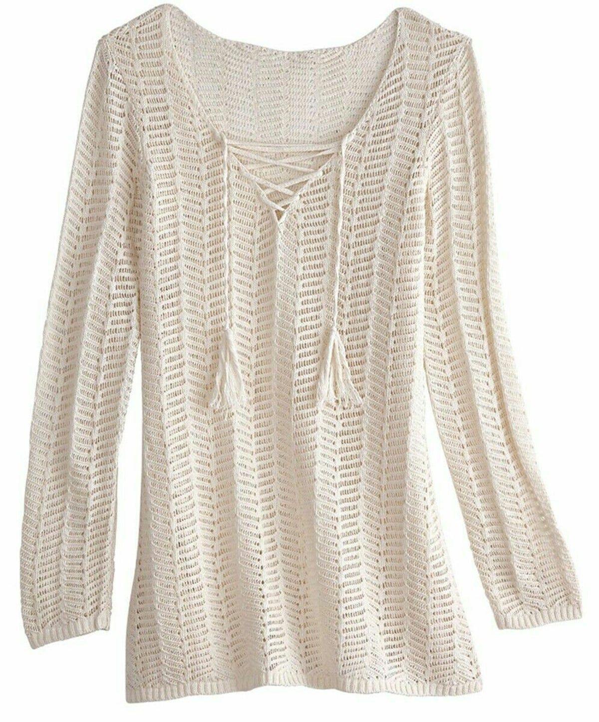 Womens 2X New Beige Sweater