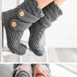Women's Classic Snow Boots Crochet Kit