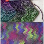 Zigzag knitted blanket free pattern :  Zigzag knitted blanket free pattern,  #bl...