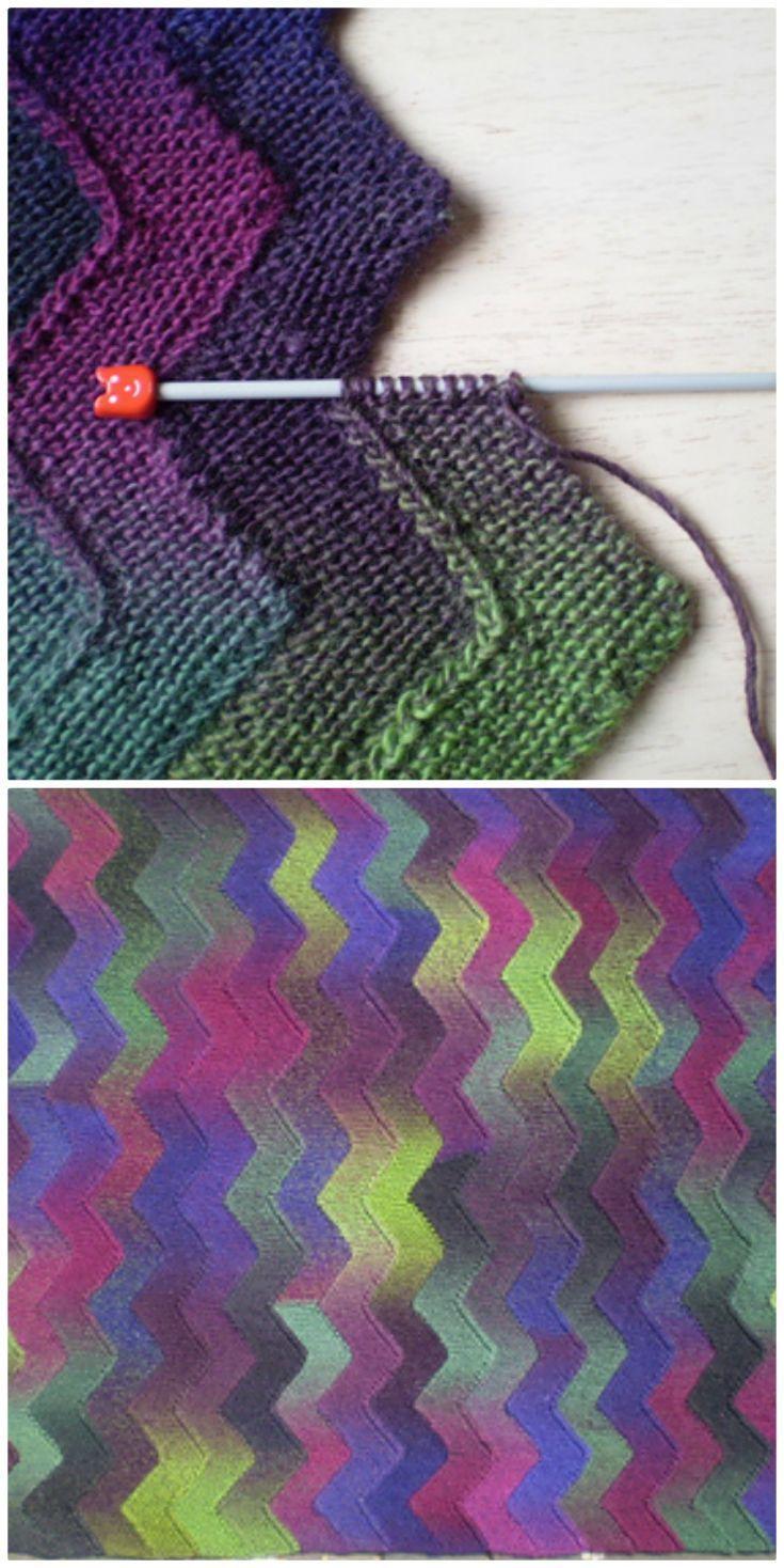 Zigzag knitted blanket free pattern :  Zigzag knitted blanket free pattern,  #bl…