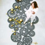 big scale handmade MODULAR crochet rug, ENTRE collection - design N 023, born September 2013, by the hands of ARTSPAZIOS