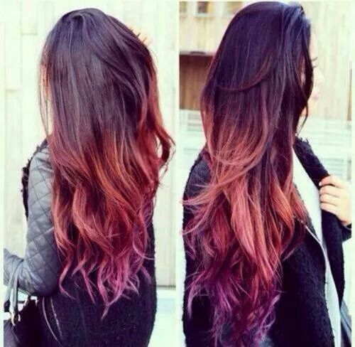 brown to blonde ombre and light purple – Google Search
