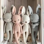 crochet Bunny, a crochet toy for a newborn or child gift, newborn photo prop or photo session