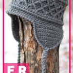 crochet Snow Country Ski Hat free pattern    #hat #crorchet #freecrocehtpattern