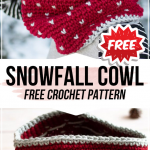 crochet Snowfall Cowl free pattern