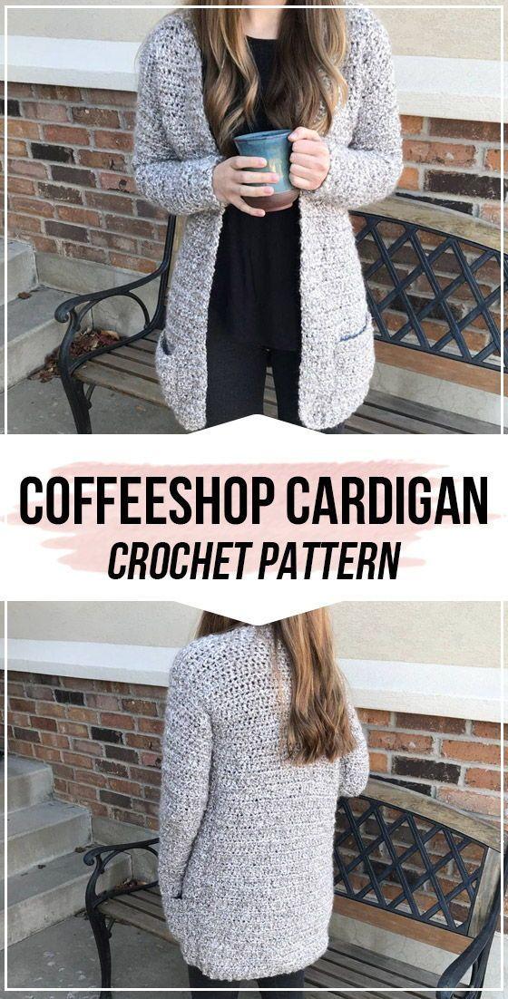 crochet The Coffeeshop Cardigan pattern