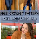 crochet cardigan free pattern. Stay warm and comfy cozy in this extra long overs...