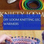 diy loom knitting leg warmers & diy webstuhl stricken beinlinge & #loom #knittin...
