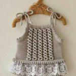 İşlemeli Bebek Yelek Yapılışı #crochetdress İşlemeli Bebek Yelek Yapıl...