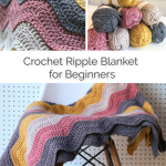 easy crochet ripple blanket pattern