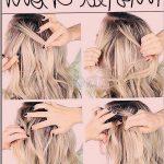 einfache Hochsteckfrisuren für langes Haar, leichte Frisuren für Kinder mit la...