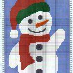 free christmas eve afghan knitting patterns   Snowman Afghan