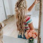 geflochtene lange Frisur #frisur #geflochtene #frisuren
