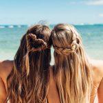 gelbe Farbe romantische Frisur #farbefrisuren #frisuren #romantischefrisuren