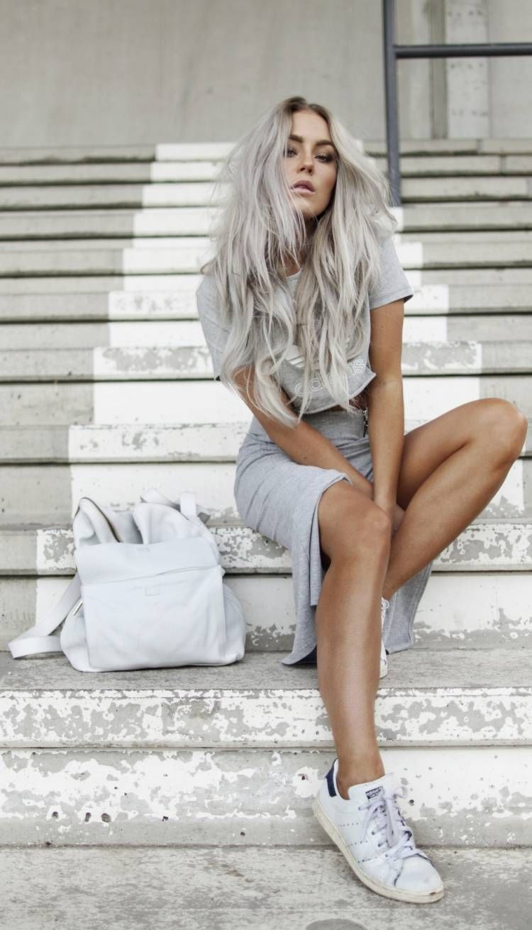 graue Haarfarbe Trend – extrem und modisch                                      …