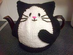 hand knitted black cat tea cosy…ebay