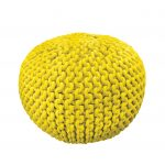 knit pouf ottoman in solar burst for home accessories ideas