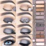 make up rauchige augen fete blaue augen blues silbergrau #makeup