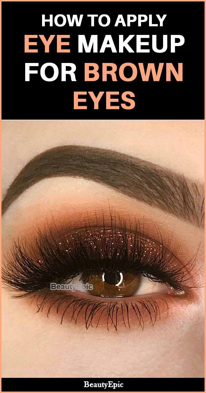 #makeup #tricks #brown #apply #eyes #tips