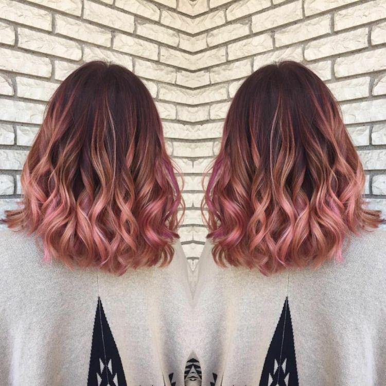 #rosebraun #haarfarbe #ombre #brünetten #frisurentrends