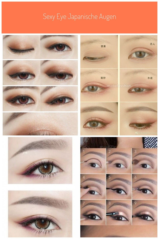 sexy eye japanische Augen Make-up koreanisch asiatisch #Japanesemakeup #TypesOfM…