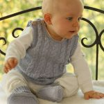 """sleeveless top and booties in """"Merino Extra Fine"""" with cable pattern. ~ DROP..."""