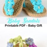 triple flowers baby sandal - baby shoes crochet pattern - baby gift #crochet #cr... - Life with Alyda