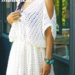 white hippie boho mini dress free crochet pattern beginner friendly, quick and e...